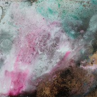 Misted Glow by Shahina Jaffer, Mixed Media on Canvas