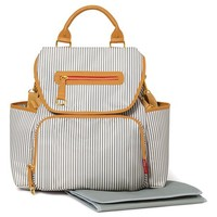 Gray French Stripe Grand Central Take-It-All Backpack