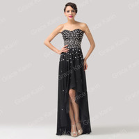 Sequins Wedding Formal Long Ball Gown Bridesmaid Bridal Evening Party Prom Dress