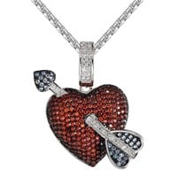 Men's out Arrow And Heart Necklace Custom Pendant Chain