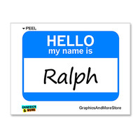 Ralph Hello My Name Is Sticker