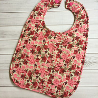 Floral Baby Bib - One size fits infant-toddler