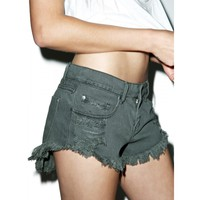 GIGI DISTRESSED SHORTS