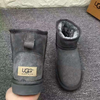 UGG Short boots antiskid warm lazy sheep fur ugg boots Grey