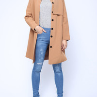 'The Janine' Long Sleeve Trench Coat