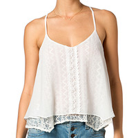 Miss Me Women's Crochet Lace Tie-Back Tank