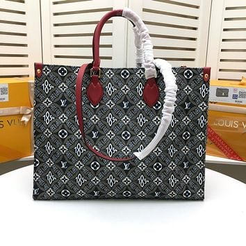 LV Louis Vuitton BEST QUALITY MONOGRAM CANVAS ONTHEGO HANDBAG TOTE BAG