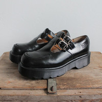 Vintage 90s Black Platform Mary Jane Doc Martens | women's 8.5