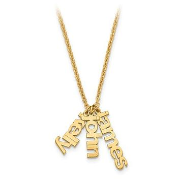 A Mother's Precious Loves Custom Three Name Necklace