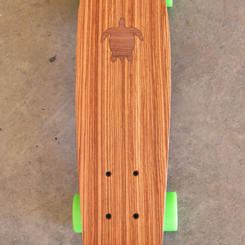 """22 inch Mini Penny kicktail Skateboard """"Turtle Bay"""" with inlay, complete"""