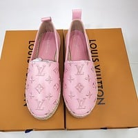 lv louis vuitton women casual shoes boots fashionable casual leather women heels sandal shoes 129