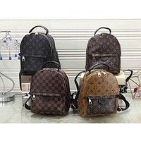 Hipgirls Louis Vuitton LV Women's Fashion Backpack Full of Letters Leather School Bag