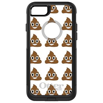 DistinctInk™ OtterBox Commuter Series Case for Apple iPhone or Samsung Galaxy - Poop Emoji Pattern