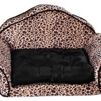 Woof Kingdom® washable Pet Mat - Luxury Sofa bed for Pets - Medium and Small Pets/Dogs - Leopard print