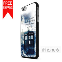 Tardis Doctor Who Police Box Smoke Quotes S NN iPhone 6 Case