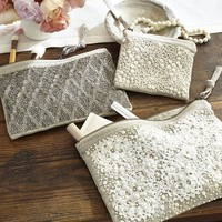 SHELL BEADED POUCHES