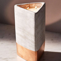 Paddywax Triangular Concrete Candle   Urban Outfitters