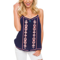 Sedona Top - Navy