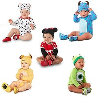 2016 Cute Baby Rompers + Hat Baby Clothes Sets Cartoon Animal Baby Long Sleeve Jumpsuit Toddler Boys Girls Outfits Baby Clothing