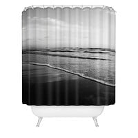 Bree Madden Ombre Black Shower Curtain