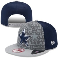 Mens New Era Navy Blue Dallas Cowboys 2014 NFL Draft 9FIFTY Snapback Hat