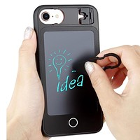 LED Handwriting board Wordpad case for iphone 8 8plus 7 7plus 6s 6plus Silicon bumper with PC doodle phone cover for gifts
