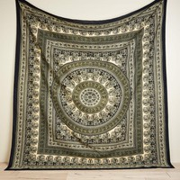 Olive Square Medallion Tapestry
