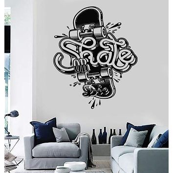 Wall Stickers Vinyl Decal Skate Skateboard Extreme Teen Street Sport Unique Gift (z2123)