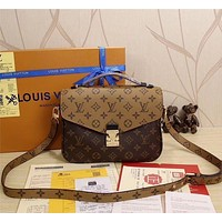 Louis Vuitton LV Trending Women Print Leather Buckle Satchel Crossbody  Shoulder Bag Handbag