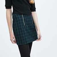 Cooperative Pelmet Skirt in Black Watch - Urban Outfitters