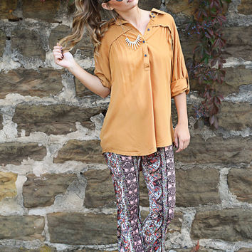 pioneer the way button up tunic