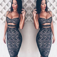 Lace Cut-Front Dress