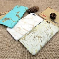 Vintage Gold Marble Stone iPhone X 8 7 6 6s Plus Case Cover + Nice Gift Box 271