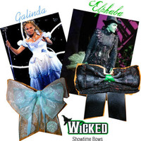 Wicked Bows Elphaba or Galinda by ShowtimeBowsbyLouise on Etsy
