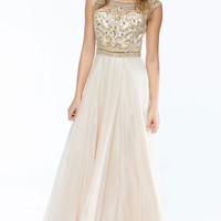 KC14102 Jeweled Boat Neck Evening Gown by Amelia Collection by Kari Chang Couture