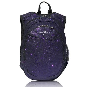 O3KCBP026 Obersee Mini Preschool Backpack for Girls with integrated Insulated Snack Cooler   Sparkle Purple Design