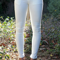 You Should've Known Skinny Jeans White