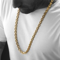"""Gold Stainless Steel """"The Boss"""" Chain Necklace"""