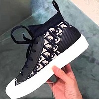 DIOR Fashion Women Casual High Help Sneakers Sport Shoes
