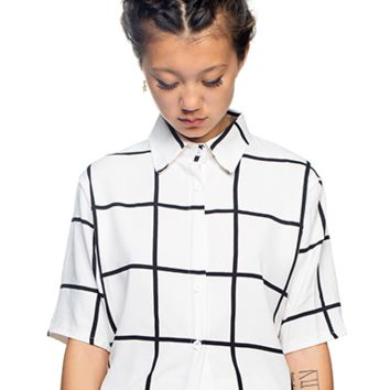 Grid Button-Up Shirt
