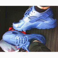 """NIKE""AIR Huarache Running Sport Casual Shoes Sneakers Sliver blue B-AA-SDDSL-KHZHXMKH"