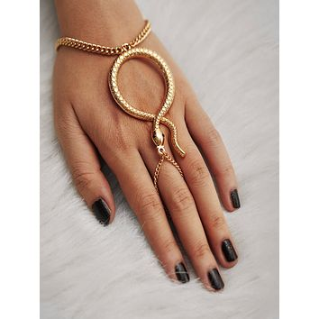 Snake Design Toe Ring Chain Bracelet 1pc