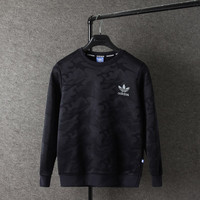 Adidas: pure cotton jacket sweater cardigan cashmere windbreaker with thickening