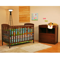AFG Leila Classic Crib and Dresser/Changing Table