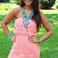 You Look So Good In Lace Dress Coral