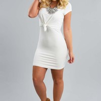 Tie The Knot Dress: White