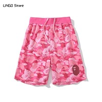 Bape Camouflage Casual Shorts for Men and Women Cotton Short Pants Streetwear Clothing