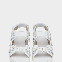 Young Versace 3D Floral Stacked Sandals for Girls | US Online Store