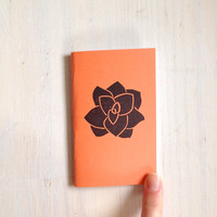 Small Notebook: Succulent Notebook, Leaf, Orange, Succulent, Kids, Fall, Gift, Unique, Journal, Stamped, Thanksgiving, Stocking Stuffer D611