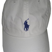 Polo Ralph Lauren Men's Pony Logo Baseball Cap Hat One Size White